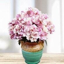 6 หัว/1Bundleพลาสติกประดิษฐ์ดอกไม้ตกแต่งบ้านอุปกรณ์เสริมผ้าไหมไฮเดรนเยียDiyภาพวาดดอกไม้ปลอม