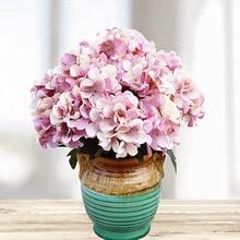 6 głowice/1 pakiet sztuczne plastikowy kwiat dekoracja bożonarodzeniowa akcesoria ślubne jedwabna hortensja obraz diy sztuczny kwiat