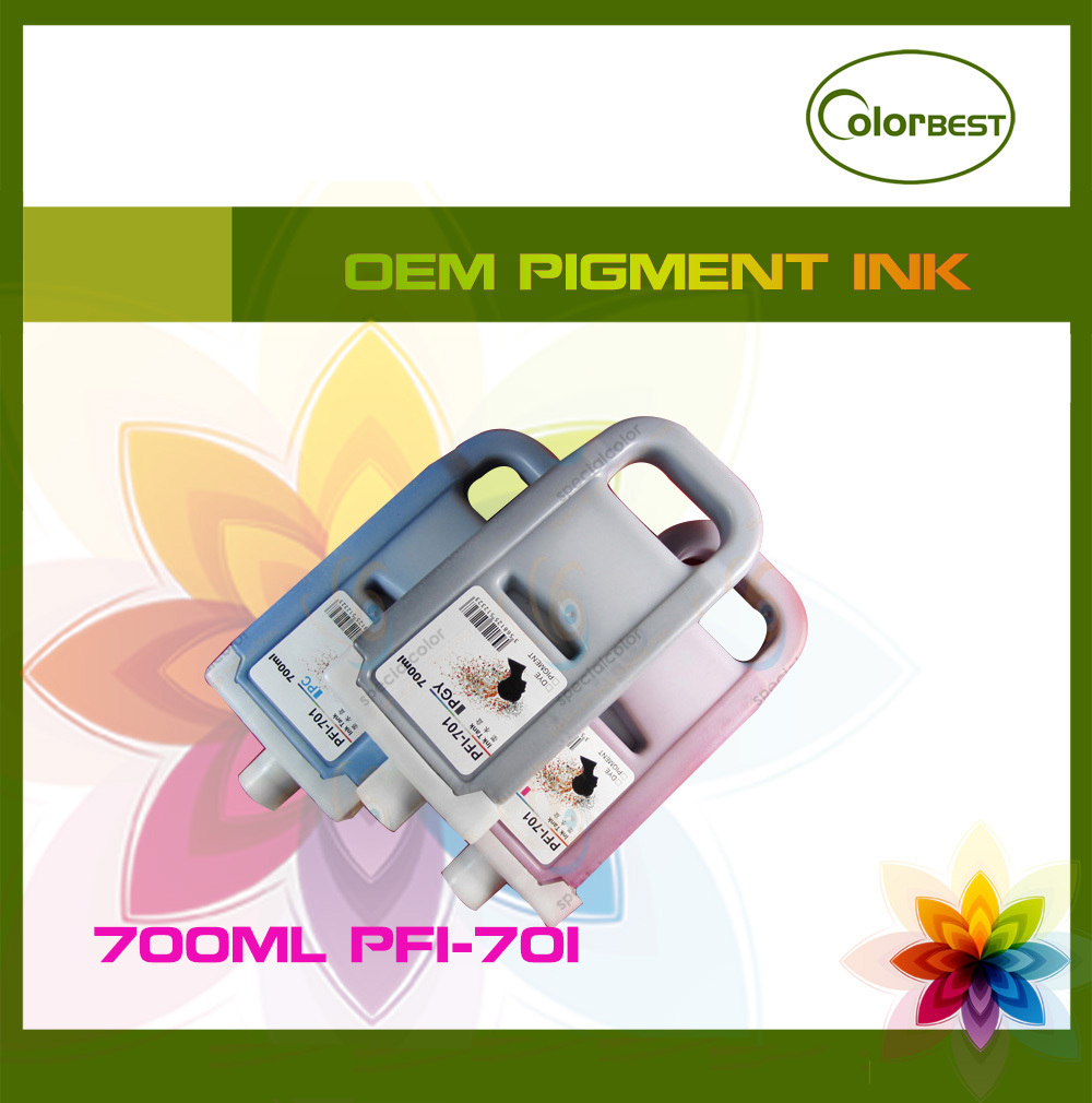 Wholesale 700ml 8 color/Set compatible pigment ink cartridge PFI-701 (with chip) for IPF8000/8000S/8100/8110/8010S ynm l01 high quatily compatible c610 cartridge chip for oki c610 610dn 610cdn compatible eu toner chip kmcy set