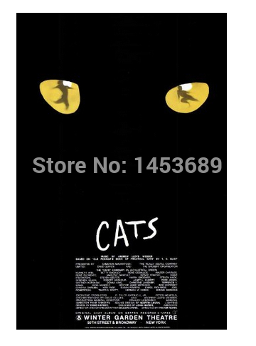 2014 New Cats Broadway Stylish Nice Home Decor Poster Customized Fashion Classic 50x70cm Free Shipping Wall