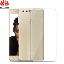 Huawei Honor8 Case Honor 8 Cover Transparent Ultra-thin Soft Clear Luxury Back TPU Slim Sample Shockproof Camera Protective(China)