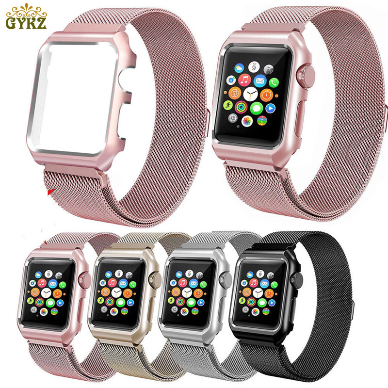 все цены на Milanese Loop Strap Stainless Steel Band For Apple Watch 42mm 38mm Wristband Link Bracelet For iwatch Series 3/2/1 Metal Case онлайн