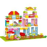 142 шт. город девушка сад вилла Building Block замок дом Diy кирпичный Набор Развивающие игрушки для детей Совместимость с D