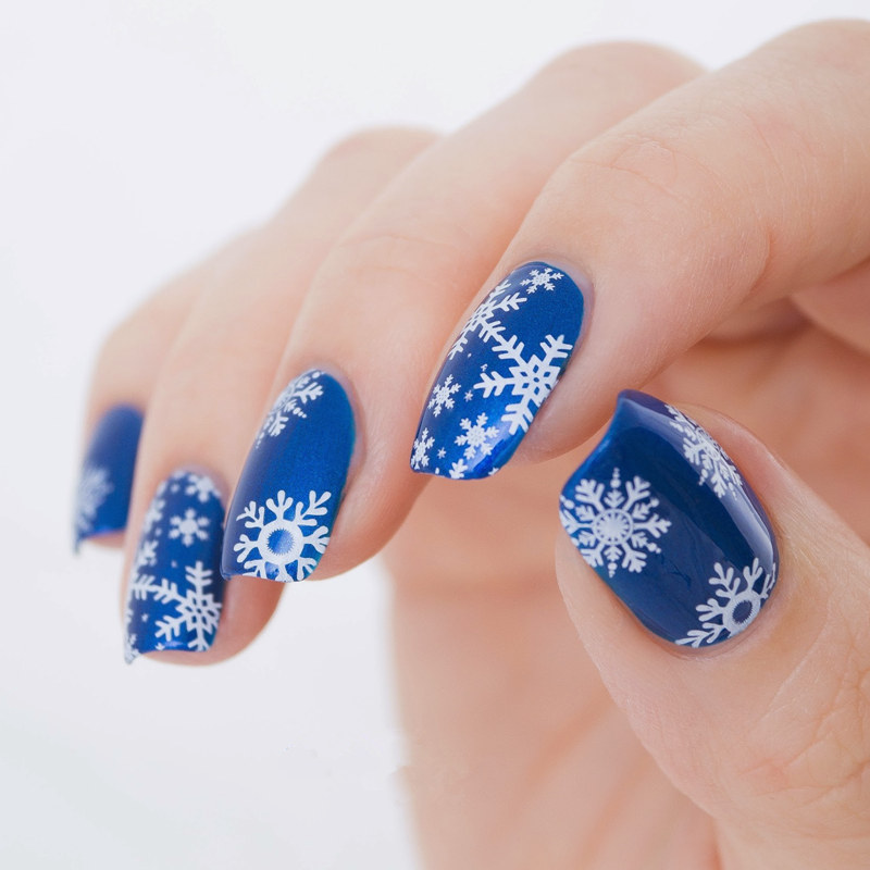 1pc Christmas Nail Template Snowflakes Stamping Plate Xmas Tree Snowman Stamp Plate Manicure Nail Art Stamp Tools in Nail Art Templates from Beauty Health