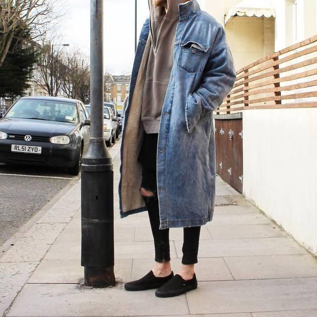 Inverno 2016FW temor de deus NEVOEIRO homens mulheres estilo longo denim jaqueta casaco roupas hiphop sup casacos quentes casacos de lã 1:1 qualidade