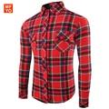 New Fashion Mens Cotton Plaid Shirts High Quality Long Sleeve Slim Fit Brand Designer Spring Mens Casual Shirts chemise homme