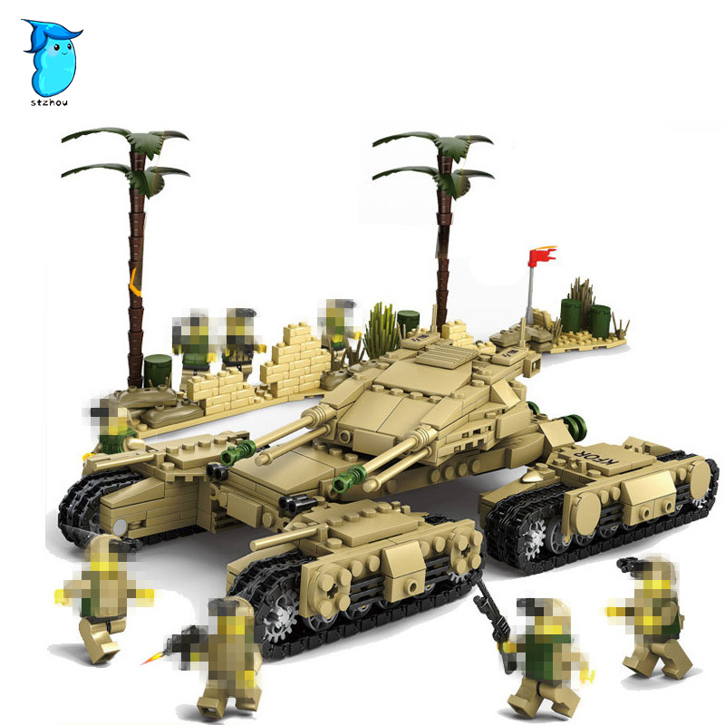 StZhou Military Building Blocks 4 Style DIY Army Classic War Tank Bricks Toys Set Christmas Gifts For Kids Compatible With Legoe military army war special police force ch 47 chinook helicopter building blocks sets bricks model kids toys compatible legoe