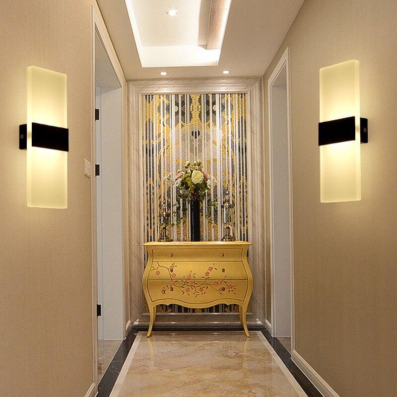 6 Вт 12 Вт Led акриловые настенный светильник AC85-265V Настенные Бра Лампа декоративная Гостиная Спальня коридор настенные светильники