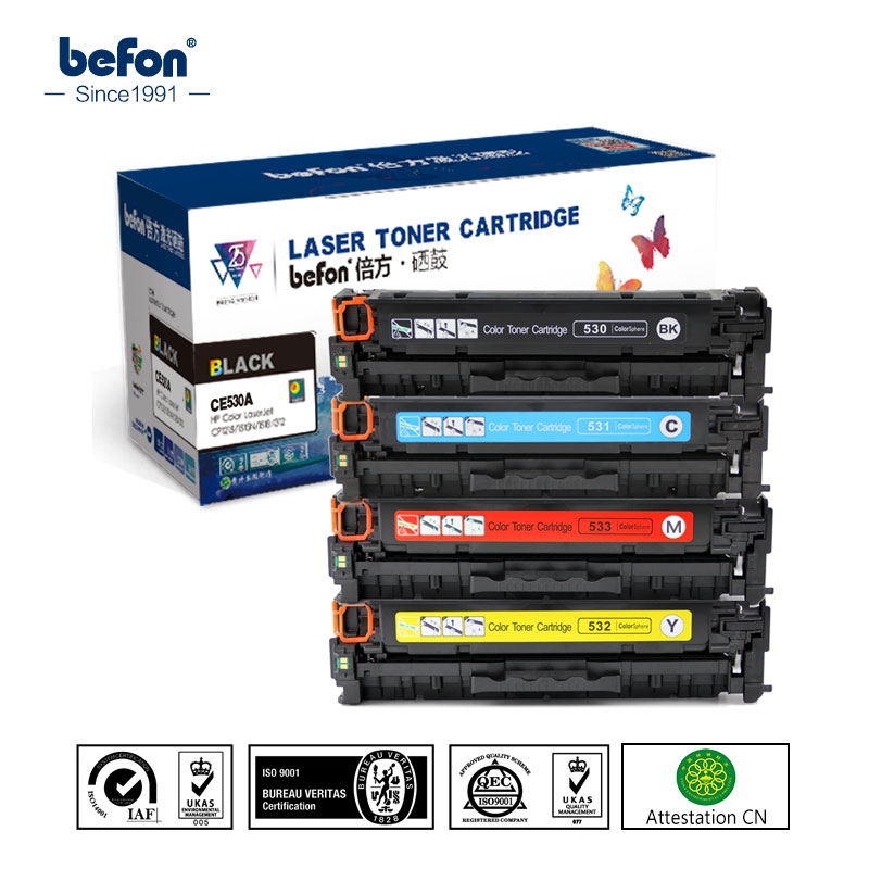 Kompatibel cc530a cc531a cc532a cc533a color tonerkartusche für color laserjet cm2320 cp2020...