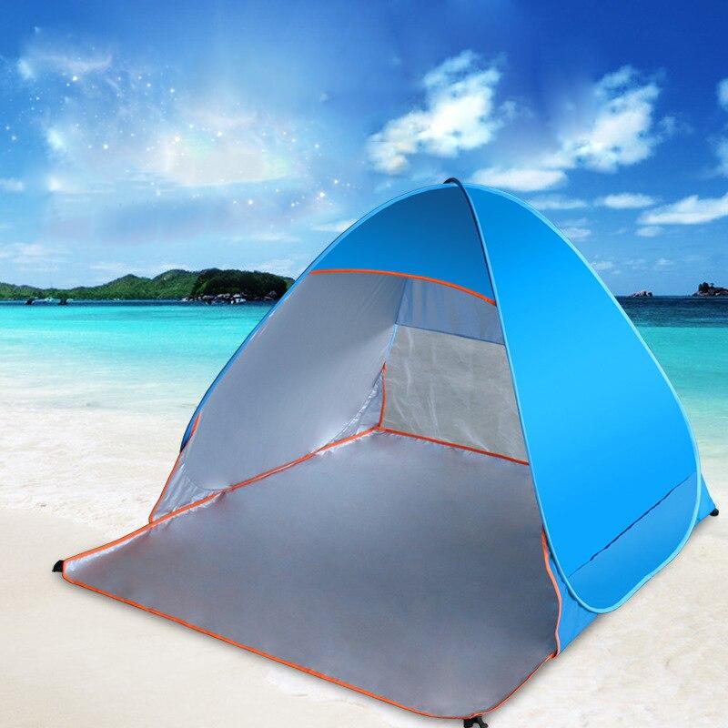 Quick Automatic Opening beach <font><b>tent</b></font> sun shelter UV-protective <font><b>tent</b></font> Outdoor Beach Shade Outdoor Camping FishingTent Blue 2017 Hot