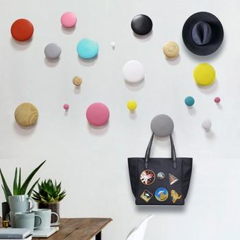 Promotion Home Decoration Coat Hook/Robe Hook japan style wall hangers for keys/clothes DIY wood handbag holder wooden hangers 3
