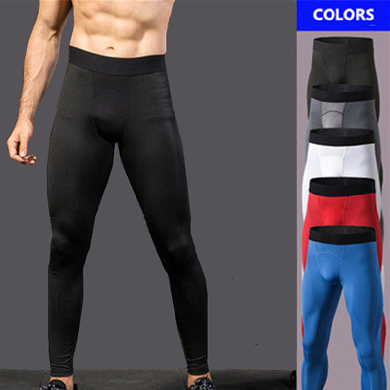 Brand Running Tight Pants for Men Baselayer Compression Sport Leggings White Workout Basketball Tennis Cycling Shorts