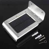 16 LED Solar Power Motion Sensor Garden Yard Security Lamp Wireless Waterproof Outdoor Lighting Lamp 120 Degrees Sensing Angle|Solar Lamps| |  -