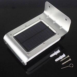 16 LED energia słoneczna czujnik ruchu ogród Yard lampa bezpieczeństwa bezprzewodowa wodoodporna zewnętrzna lampa oświetleniowa 120 stopni kąt wykrywania