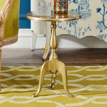 Odd ranks yield India imported aluminum golden aluminum furniture Sabrina small round coffee table corner a few