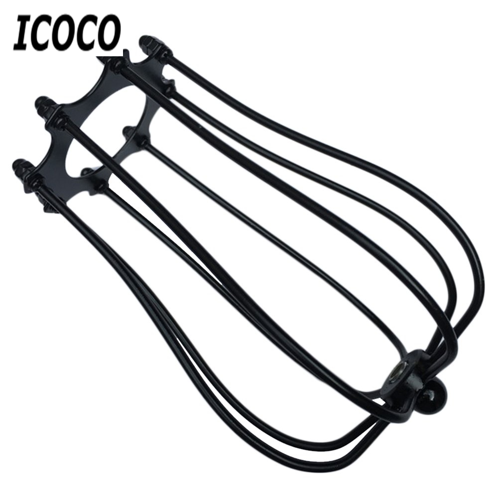 ICOCO Vintage Covers Metal Wire Shades Antique Pendant LED Bulb ...