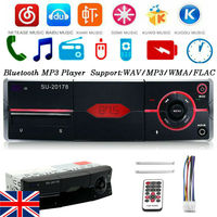 UK 1Din Car Auto Radio AUX Audio AM/FM SD Bluetooth Stereo MP3 Player Head Unit