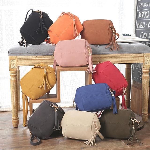 Women's Handbags Women Purses Bag Ladies Messenger Crossbody Bag Femme Designer Tassel Clutch Bags 10 Colors Bolsa Feminina 2017