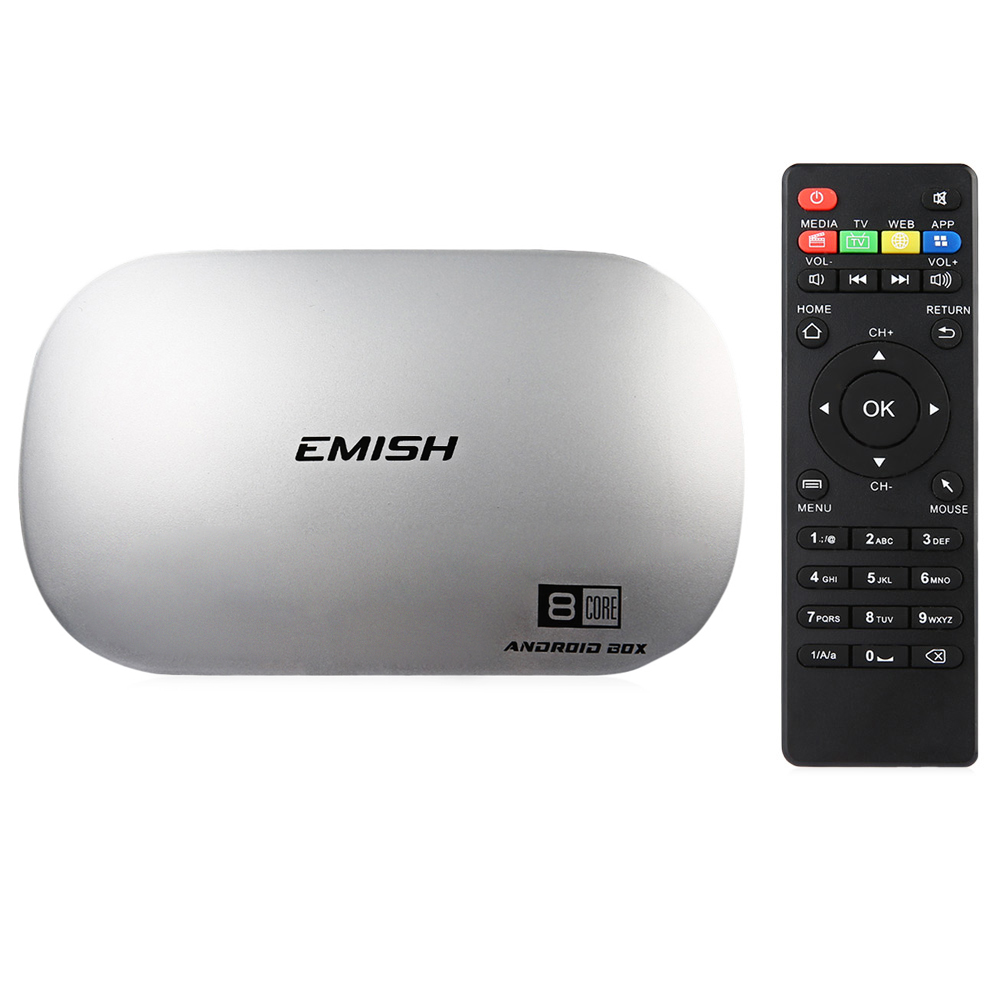 EMISH X810 TV Box 64Bit Android 5.1.1 RK3368 Octa Core 2GB RAM 16GB ROM 2.4GHz WiFi 4K TV Online Player delta gfb0412ehs server cooling fan for hp dl360 g6 360 g7 dc 12v 1 82a 1u server high speed fan high pressure fan