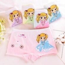 Детское хлопковое нижнее белье принцессы с рисунком для девочек 3-5-7-9 лет, нижнее белье для девочек