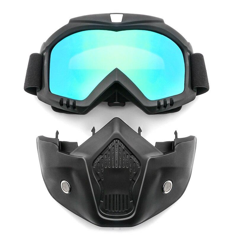 Lunettes de sécurité Masque Coupe-Vent La Poussière UV-protection Lunettes Masque Amovible Vélo Moto Tactique Lunettes Masques