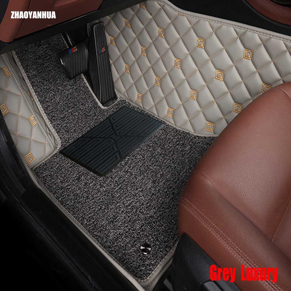 Zhaoyanhua car floor mats for toyota corolla camry prado rav4 5d heavy duty all weather car styling rugs carpet floor liners