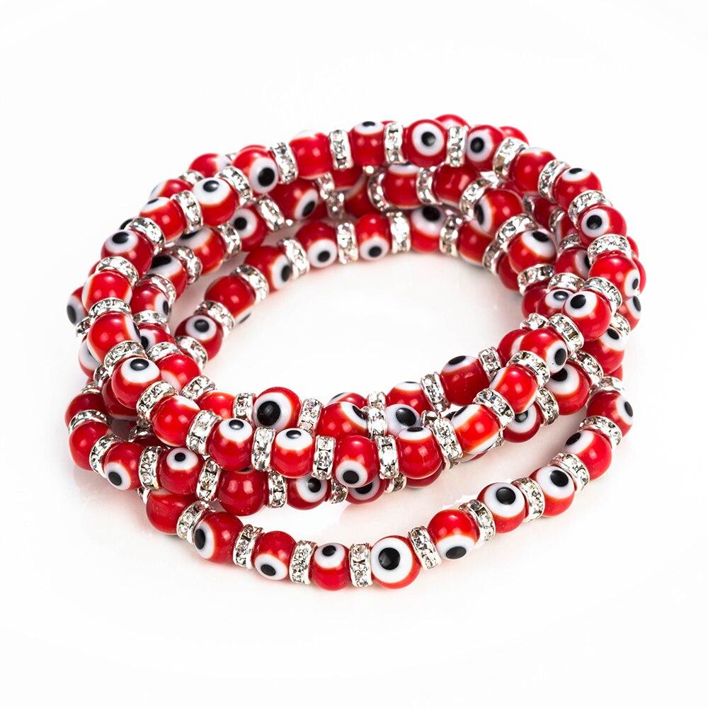 bracelet mauvais oeil rouge