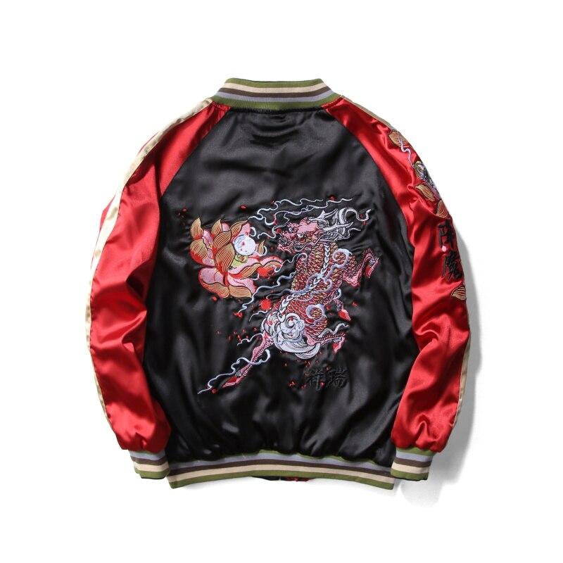 Deux 2017 Bomber Lotus Hiver Base Jacketpink Unisexe Manteaux Vestes Veste Côtés Black Femmes unisex unisex Brodé Jacket De Chaquet Boho Inspiré Style Chinois Tiger W2E9IYDH