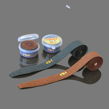 1pcs The new leather Fishing rod wrapping belt tape slip-resistant insulating belt overwraps scrub grip rod cover