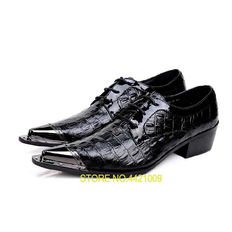New Imitate Genuine Leather diamond type lattice Oxford Shoes Lace up Men Pointed Shoes Men Wedding