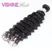 Vishine 1Pc Sample Hair Peruvian Virgin Hair Deep Curly Hair Deep Wave Excellent Quality Aliexpress uk  Peruvian Deep Curly Hair