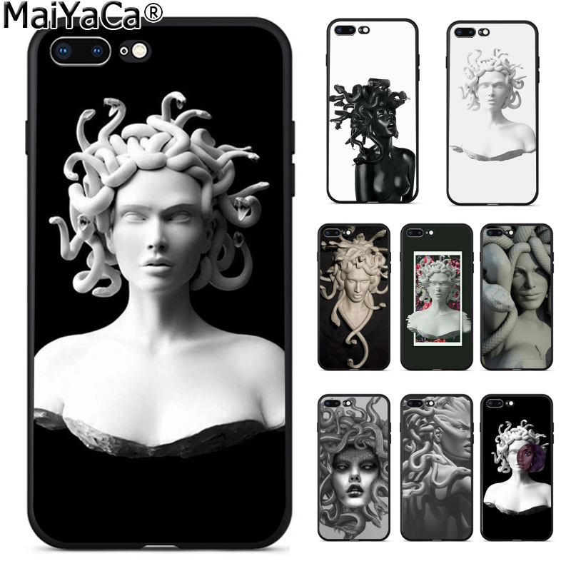 MaiYaCa Abstract Greek mythology stone sculpture woman head New Arrival phone case for Apple iPhone 8 7 6 6S Plus X 5 5S SE 5C