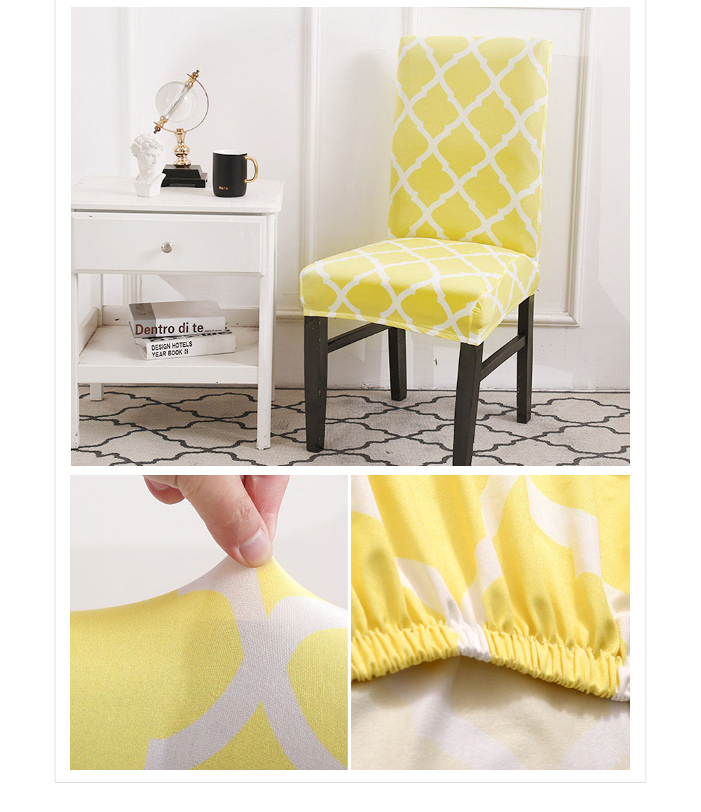 Kitchen Chair Covers Stretch Seat Cover housse de chaise Gray Slipcover Chair Towel Chair Stool Cover Spandex Chair Cover Dining