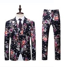 2019 autumn new mens suits fashion boutique three-piece suit (coat + trousers vest) dress S-6XL