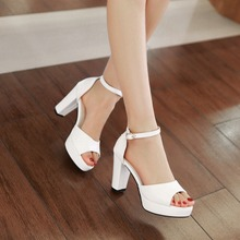 2015 brand womens summer wedding shoes ladies peep toe platform sandals white mint green sexy high heels strappy sandals 206-2