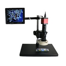 13MP 720P HDMI VGA Phone soldering Industry Microscope Camera+10X -180X Zoom C-mount Lens Glass +56 Leds+8 inch screen monitor