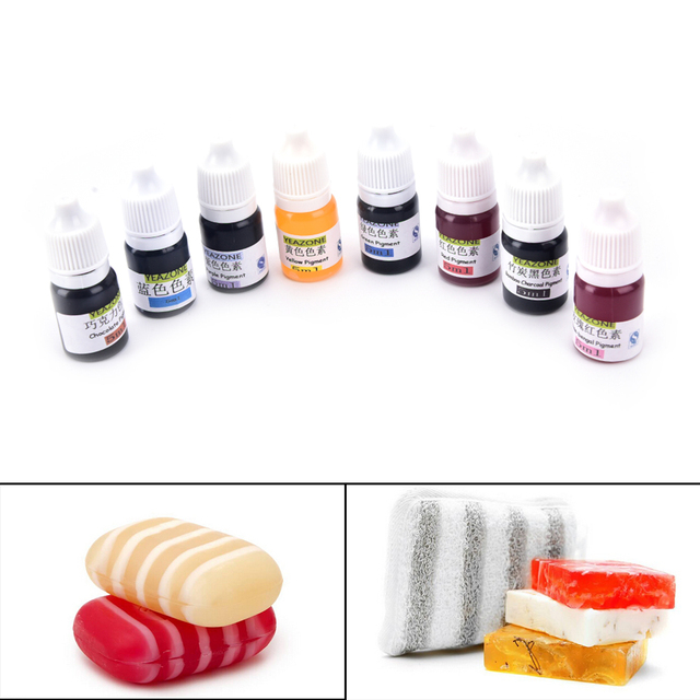 8 Colors 5ml Handmade Soap DYE Pigments Colorant Toolkit Materials Hand Made Soap Base Colour Liquid Pigment 1PCS 2