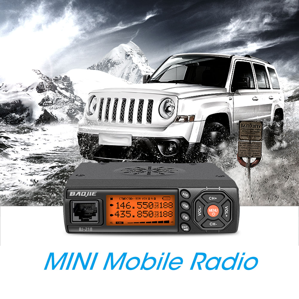 Mini Car Walkie Talkie 25W High Power Dual Band VHF UHF Radio Station HF Transceiver CB Hunting Two Way Radio LCD Display Screen image