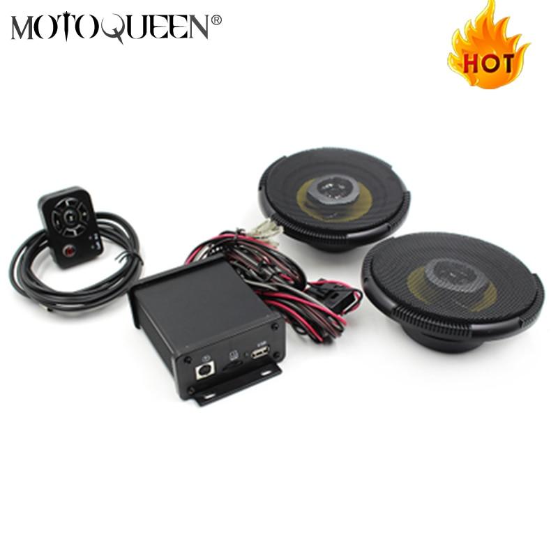 lcd /étanche Haut-parleur radio de lecteur MP3 de moto Bt Fm avec le chargement de t/él/éphone portable Lecteur MP3 de moto