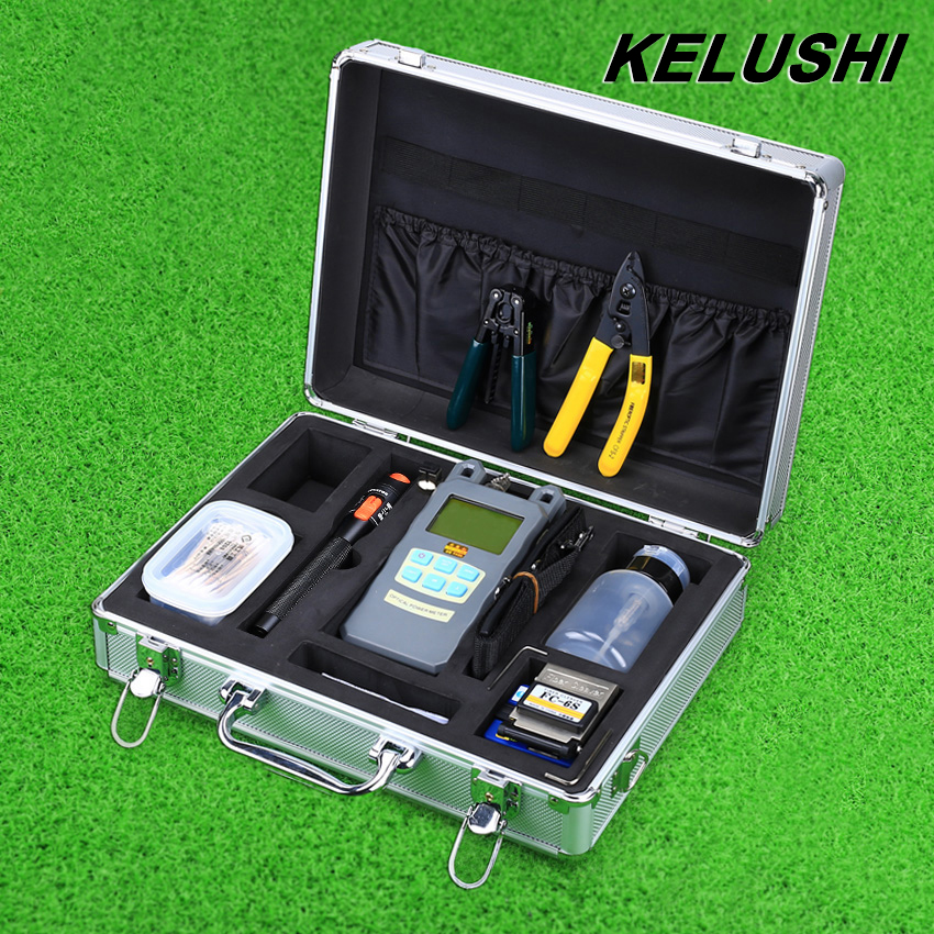 imágenes para KELUSHI 22 EN 1 Kit de Herramienta de Fibra Óptica FTTH 10 mW Visual de fallos Localizador portátil Medidor de Potencia Óptica de Fibra Óptica Cleaver Y Herramienta de Desmontaje