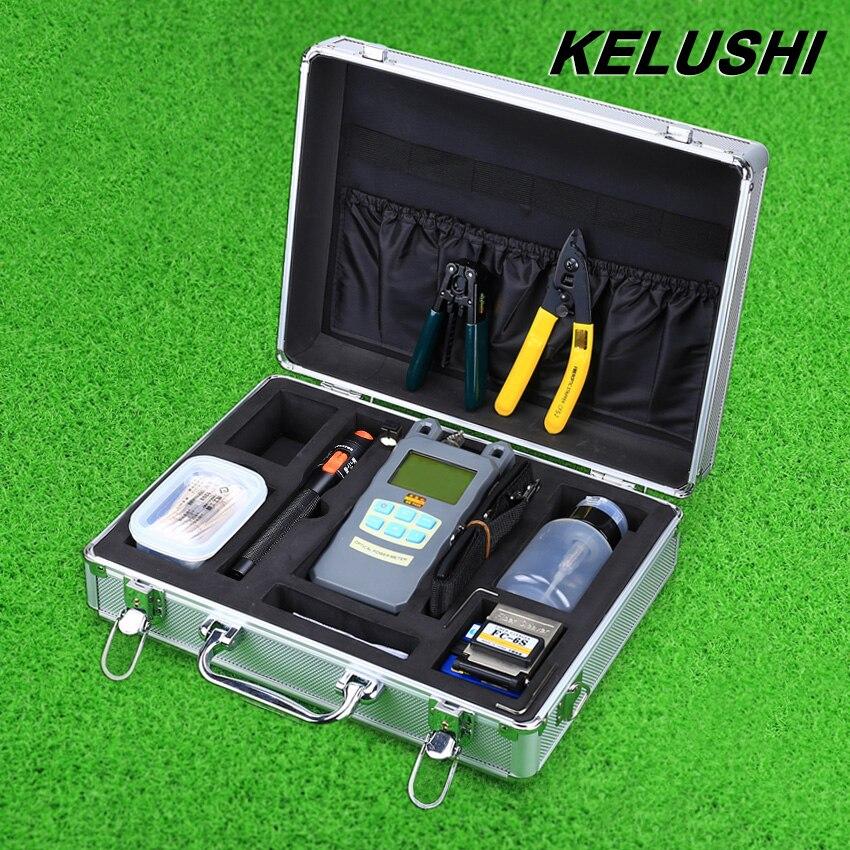 bilder für KELUSHI 22 IN 1 Faser Ftth Tool Kit 10 mW Visuelle fehler Locater Optischen Leistungsmesser Optische Faser-spalter Und Abisolierwerkzeug