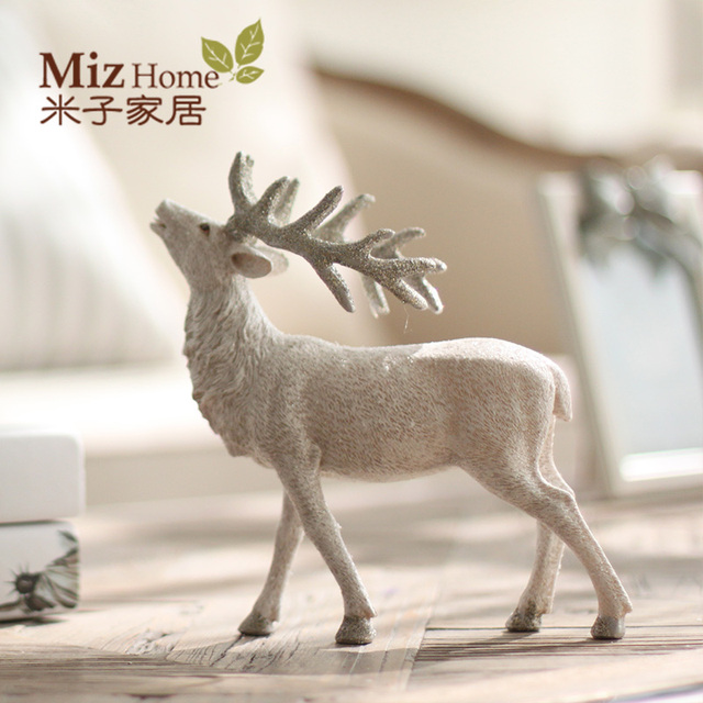 Free Shipping Xmas Holiday Party Decor Reindeer Tree Decoration Ornament Sika Deer Themed Home Decor Party