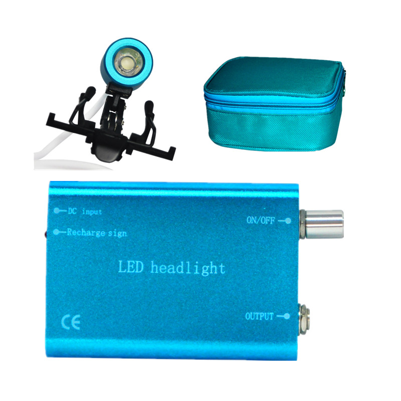 Portable Blue Head Light Lamp for Dental Surgical Medical Binocular Loupe