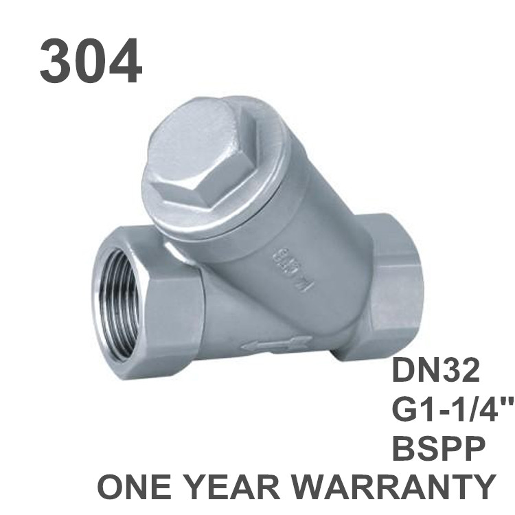 G quot bspp female stainless steel inline y filter