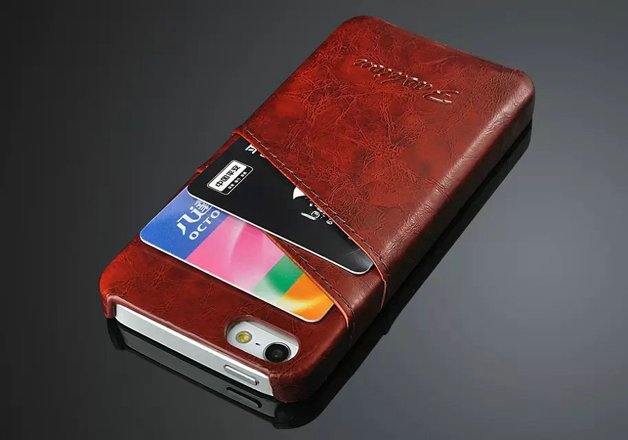 Luxury Business Leather Case For Apple iPhone 5 5S Fashion Wallet ...