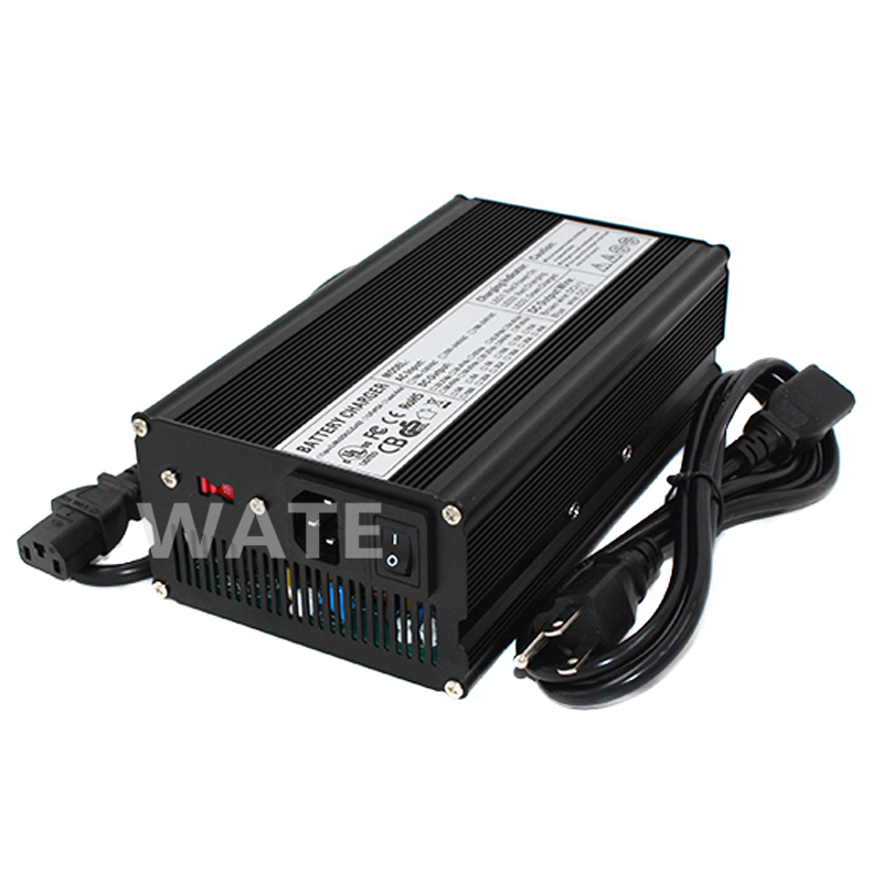36.5V 10A Charger LiFePO4 Battery charger for 10S 32V LiFePO4 Battery electric bike Aluminium Alloy with Fan цены