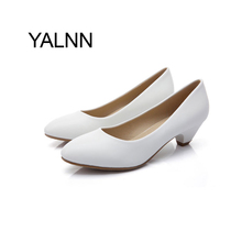 YALNN Women Shoes 3cm Black Mature Women High Heels Zapatos Pump New Shoes Office Lady Dress Fashion Pumps