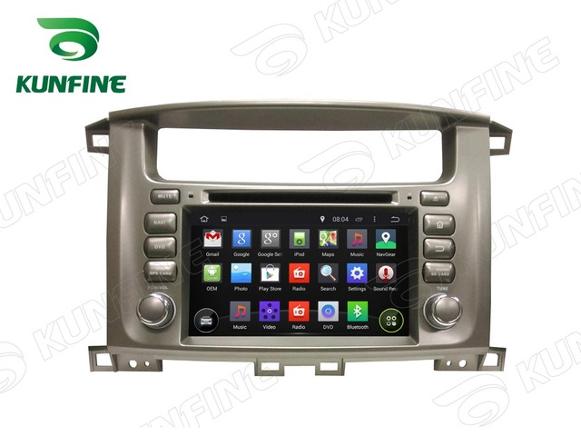 Quad Core 1024*600 Android 5.1 Автомобиль DVD GPS Навигации Игрока Стерео для Toyota LAND CRUISER 100 Радио 3 Г Wi-Fi Bluetooth