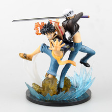 Anime One Piece Monkey D Luffy Trafalgar Law 5 Anniversary PVC Action Figure Collectible Model Toy 17cm C029