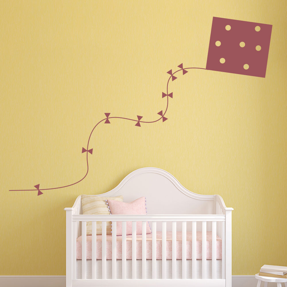 Kite Wall Sticker Childrens Wall Decal Baby Nursery Home Decor Art ...